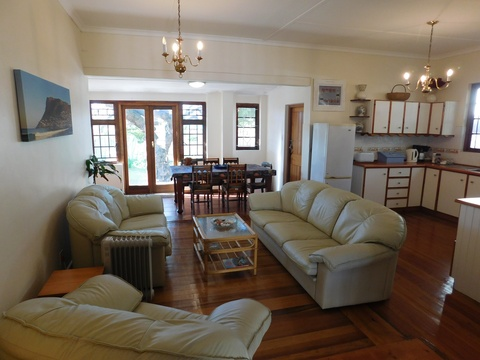 Lounge Area of Under The Pepper Tree Fish Hoek
